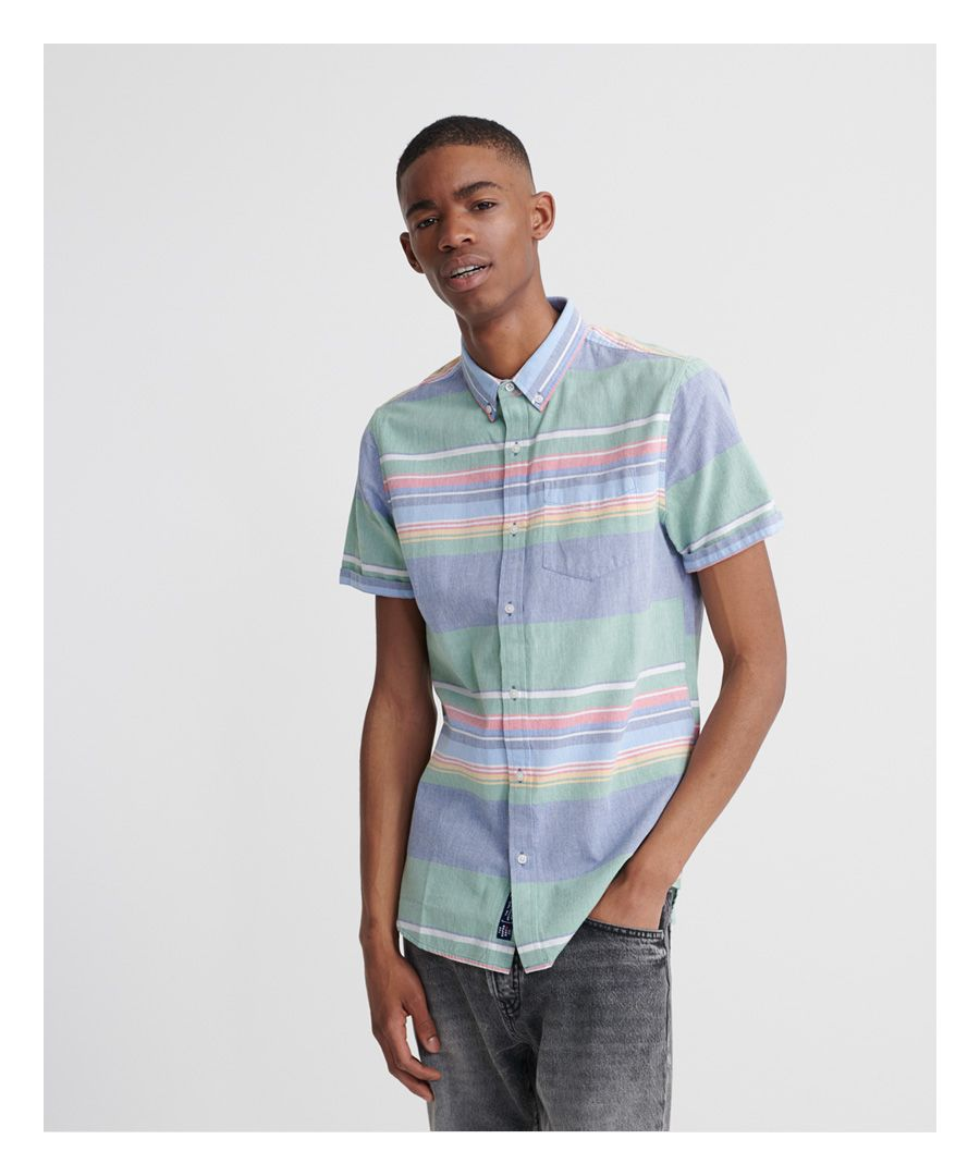 Image for Superdry Classic East Coast Oxford Short Sleeved Shirt