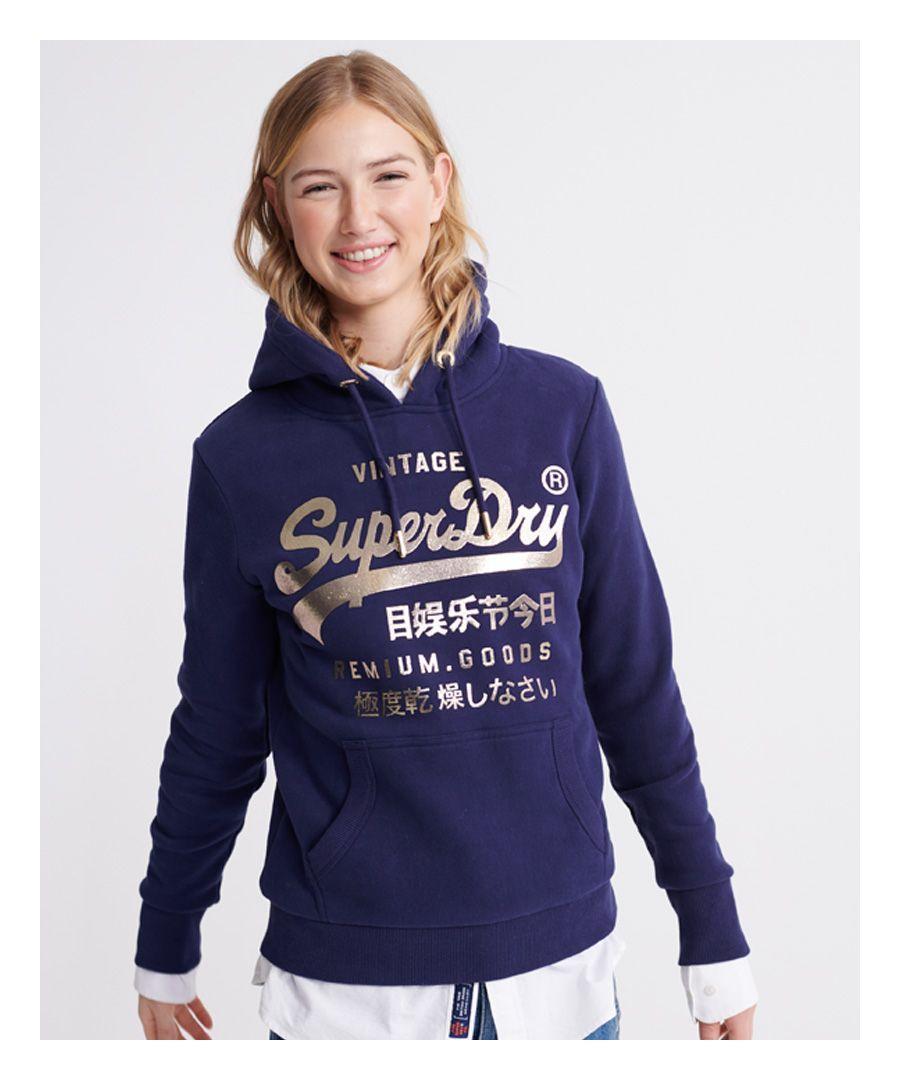 Image for Superdry Premium Goods Metallic Hoodie