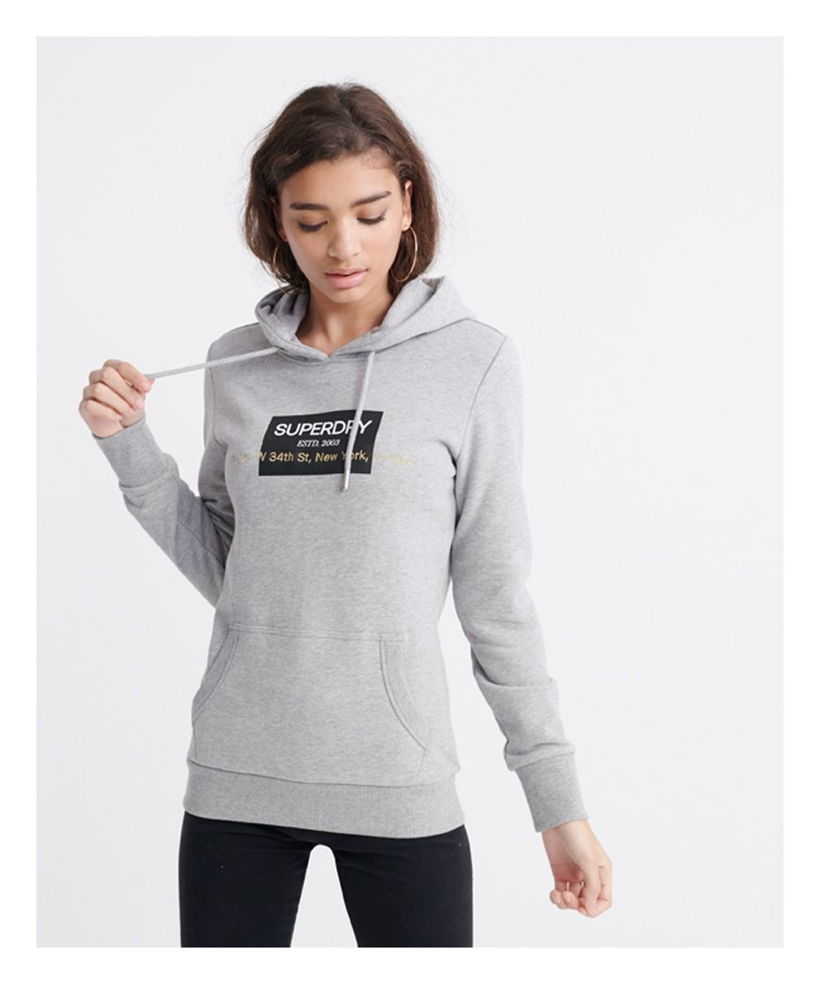 Image for Superdry 34th ST Embroidered Loopback Hoodie