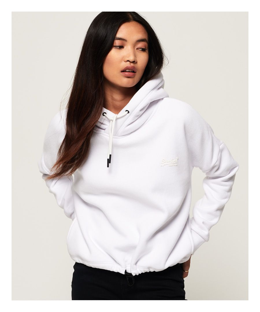 Image for Superdry Orange Label Elite Crop Hoodie