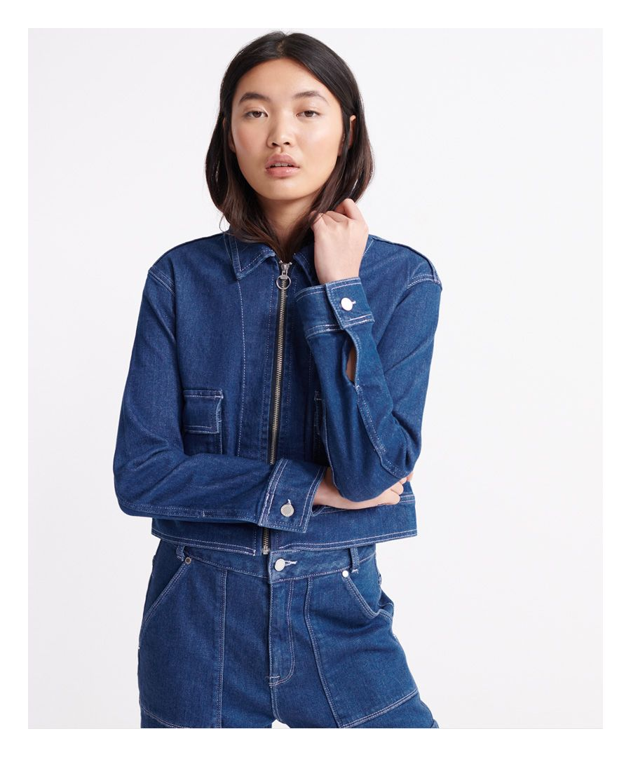 Image for Superdry Denim Cropped Jacket