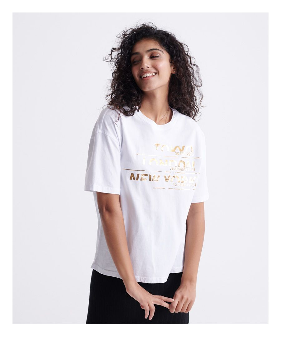 Image for Superdry Brand Language City Box Fit T-shirt