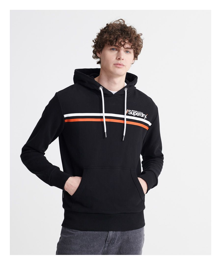 Image for Superdry Core Logo Sport Stripe Loopback Hoodie
