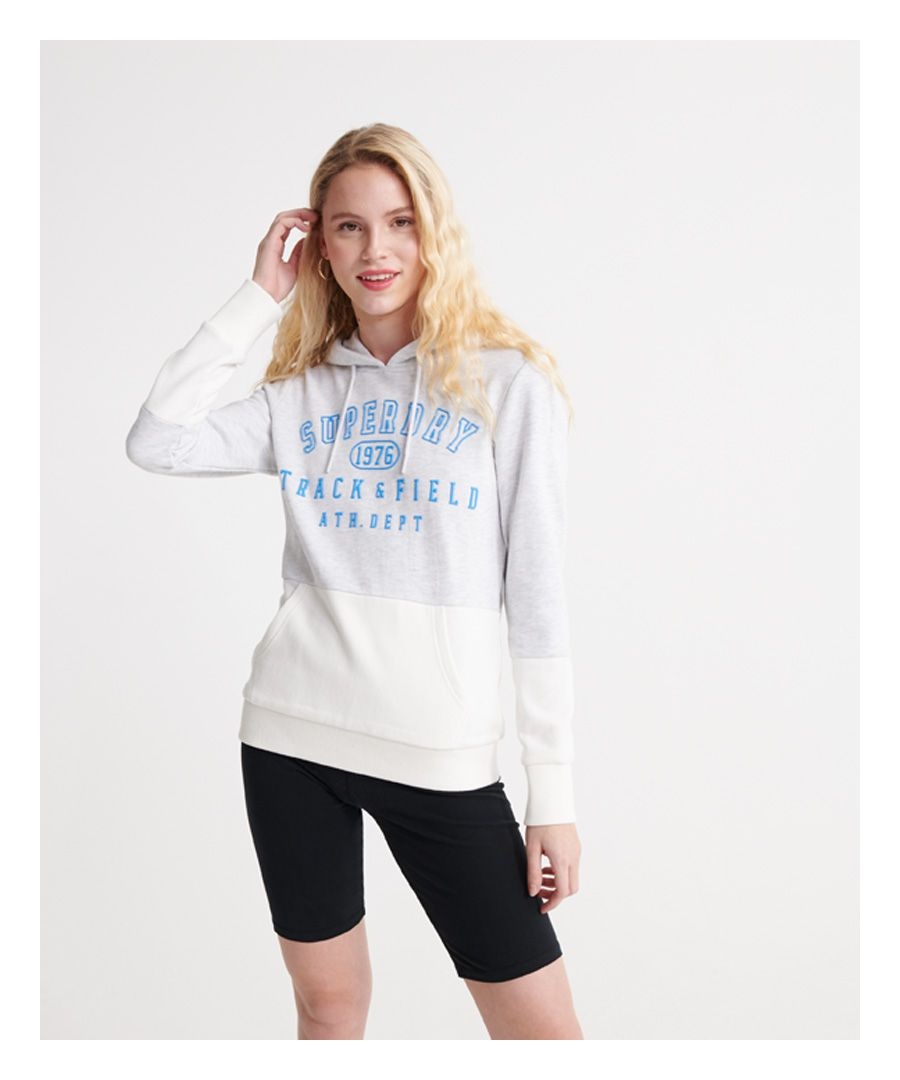 Image for Superdry Track & Field Colour Block Loopback Hoodie