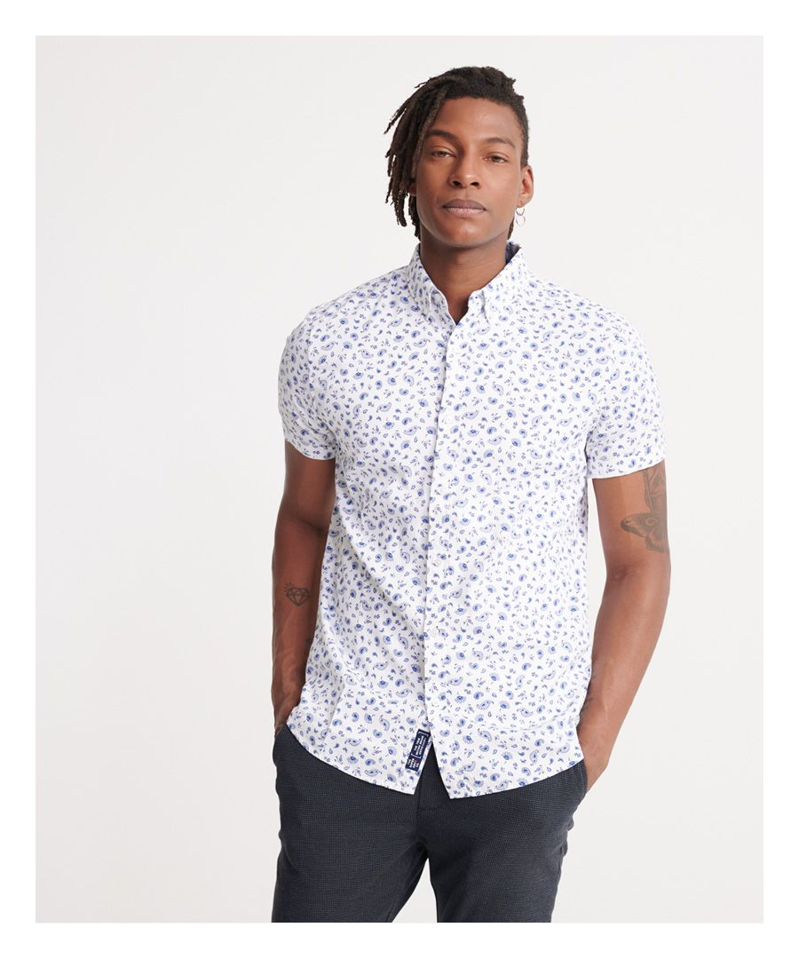 Image for Superdry Classic Shoreditch Print Short Sleeved Shirt