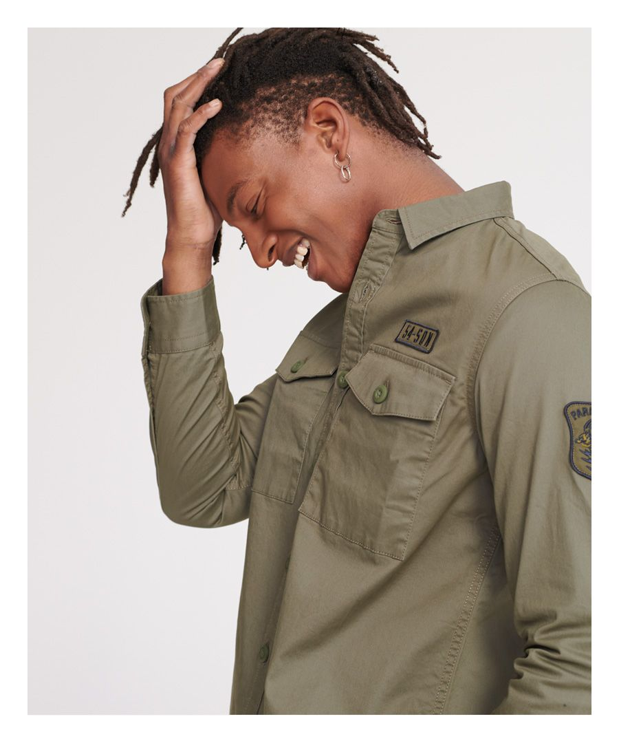 Image for Superdry Core Military Patched Long Sleeved Shirt