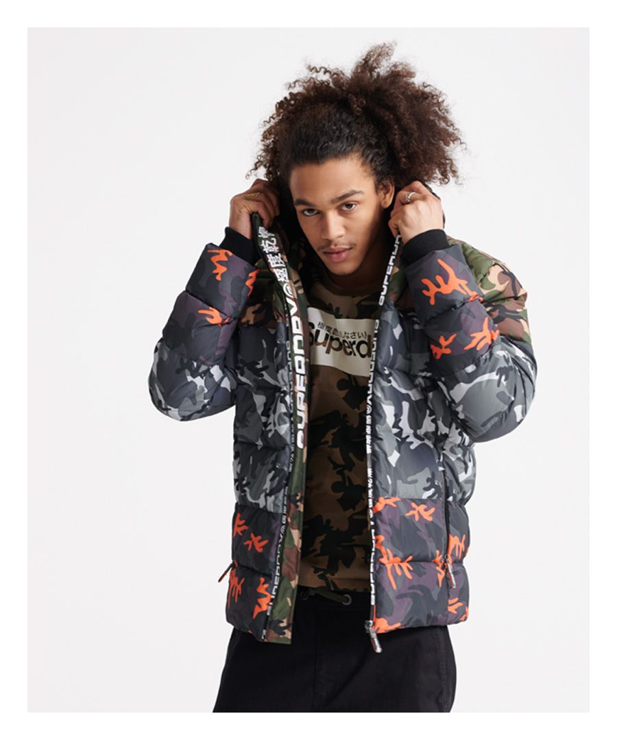 Image for Superdry Camo Mix Sports Down Puffer Coat