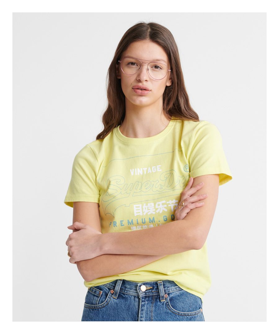 Image for Superdry Organic Cotton Premium Goods Label Outline T-Shirt