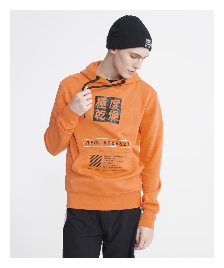 Image for Superdry Stacked Kanji Loopback Hoodie