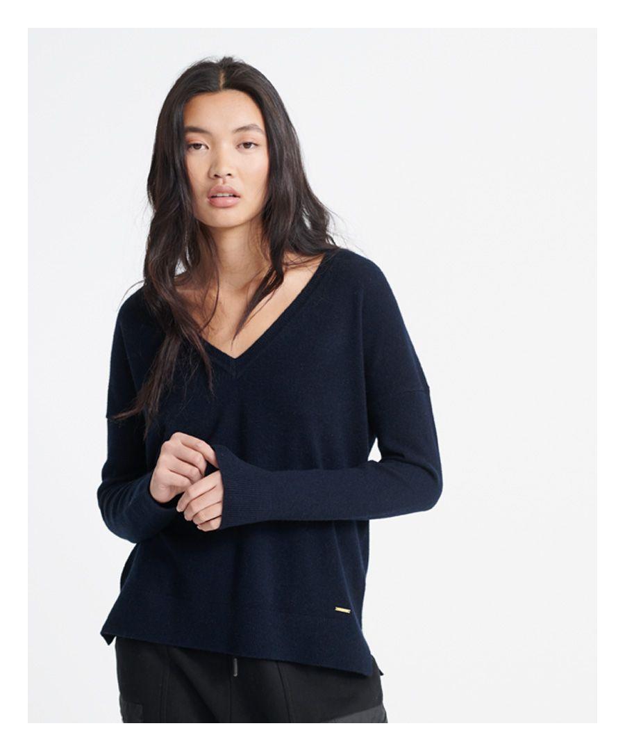 Image for Superdry Edit V-Neck Premium Knitted Jumper