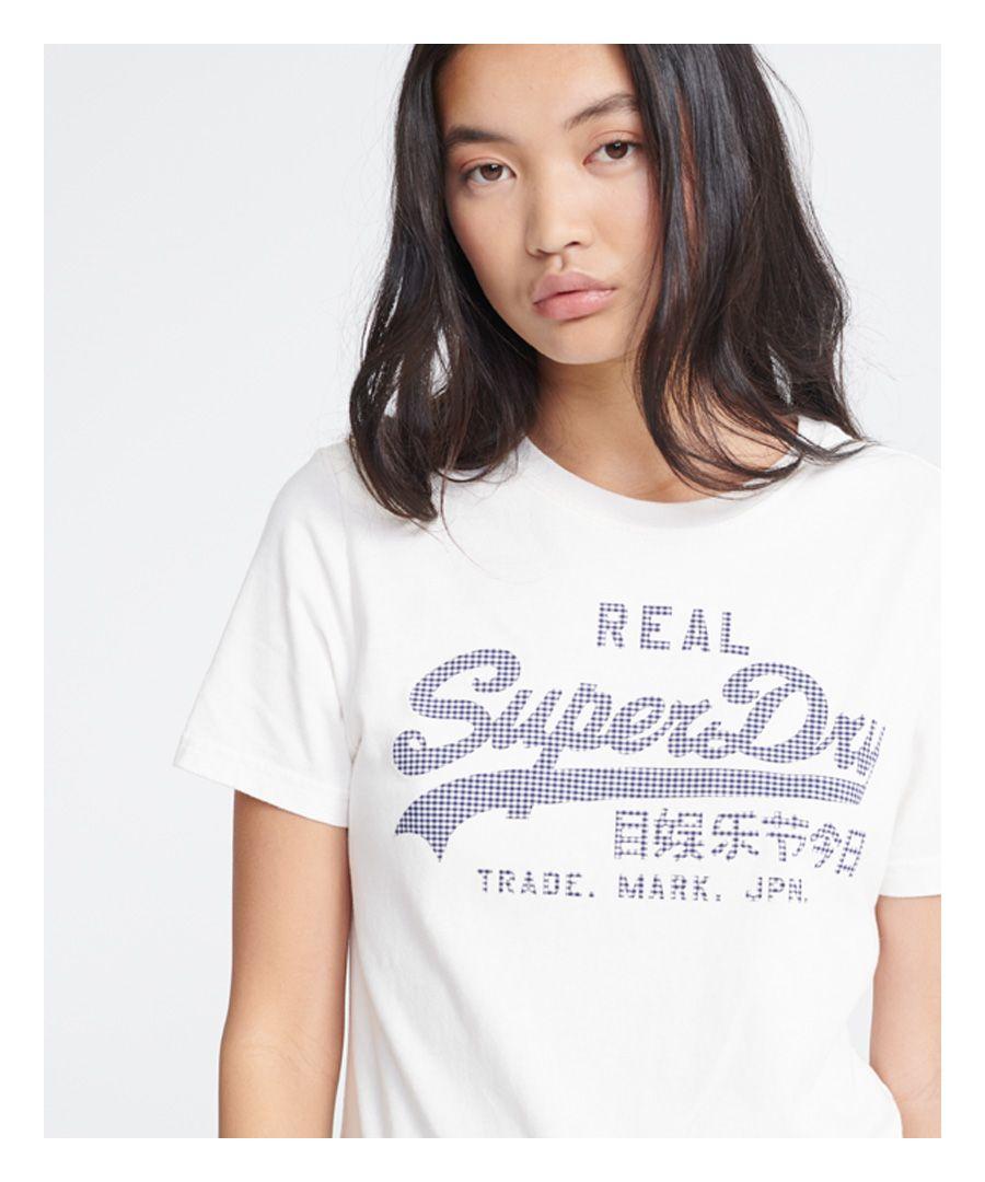 Image for Superdry Vintage Logo Gingham T-Shirt