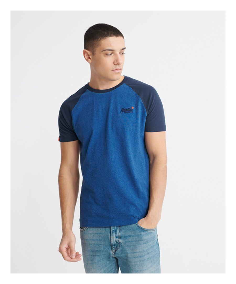 Image for Superdry Orange Label Short Sleeved Baseball T-Shirt