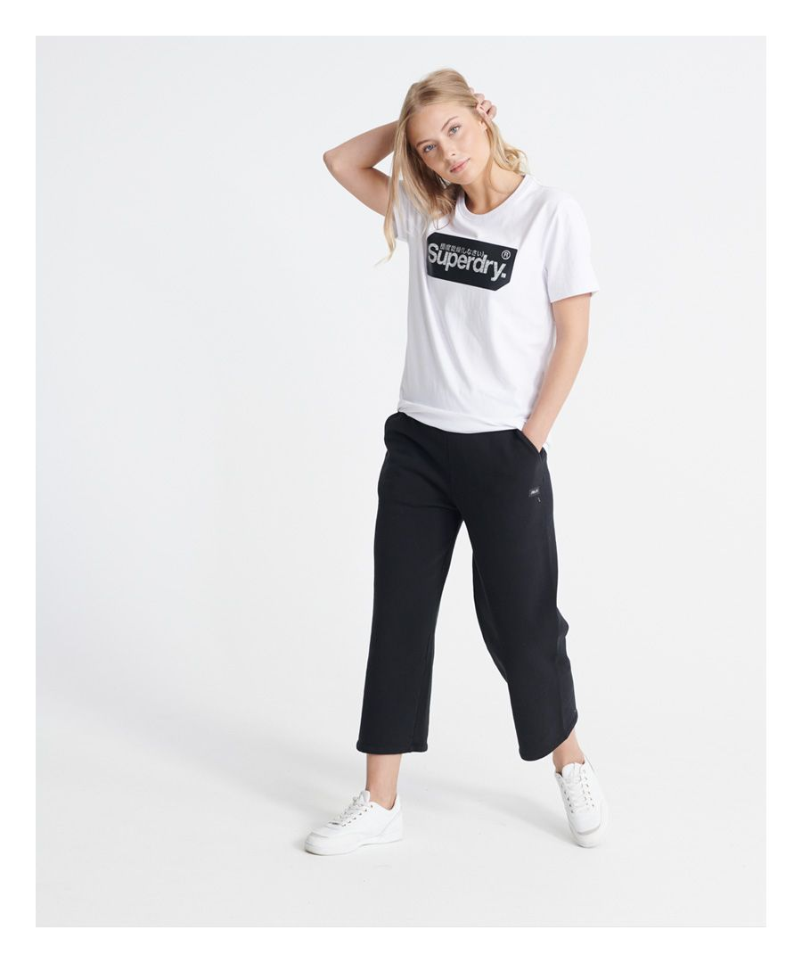 Image for Superdry Edit Wide Leg Cropped Loopback Joggers