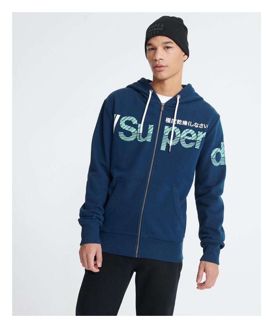 Image for Superdry Core Split Logo Lightweight Zip Hoodie