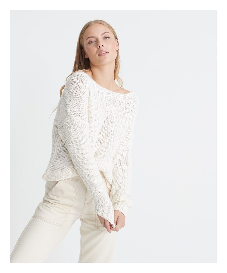 Image for Superdry Vee Slouch Slub Knit Jumper