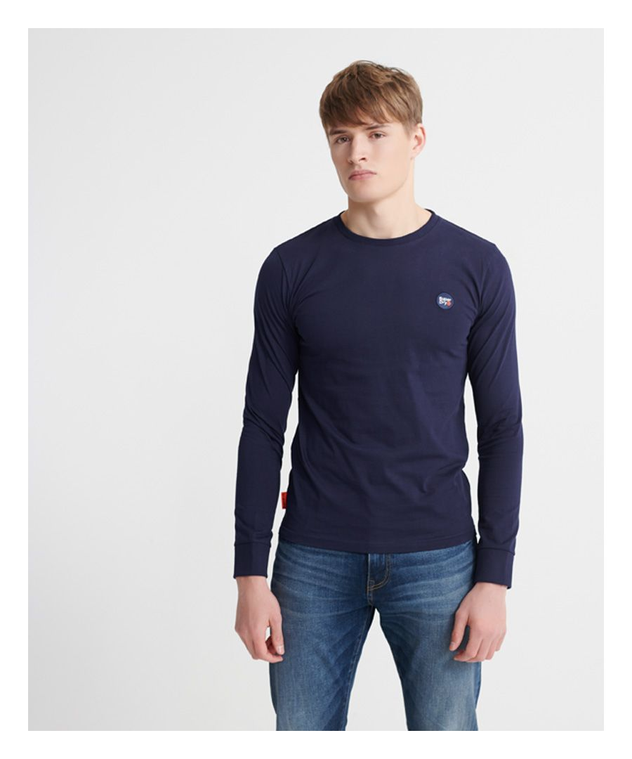 Image for Superdry Organic Cotton Collective Long Sleeve Top
