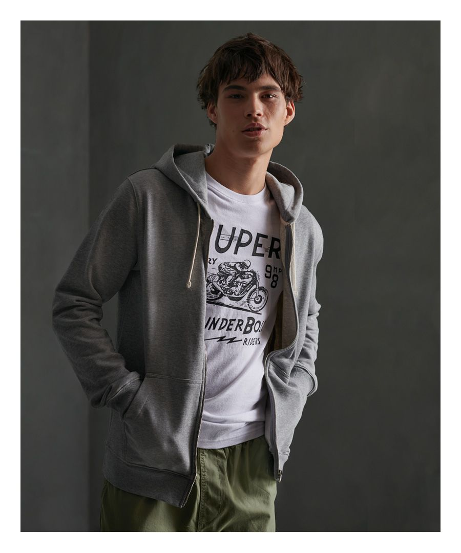 Image for Superdry Organic Cotton Standard Label Loopback Zip Hoodie