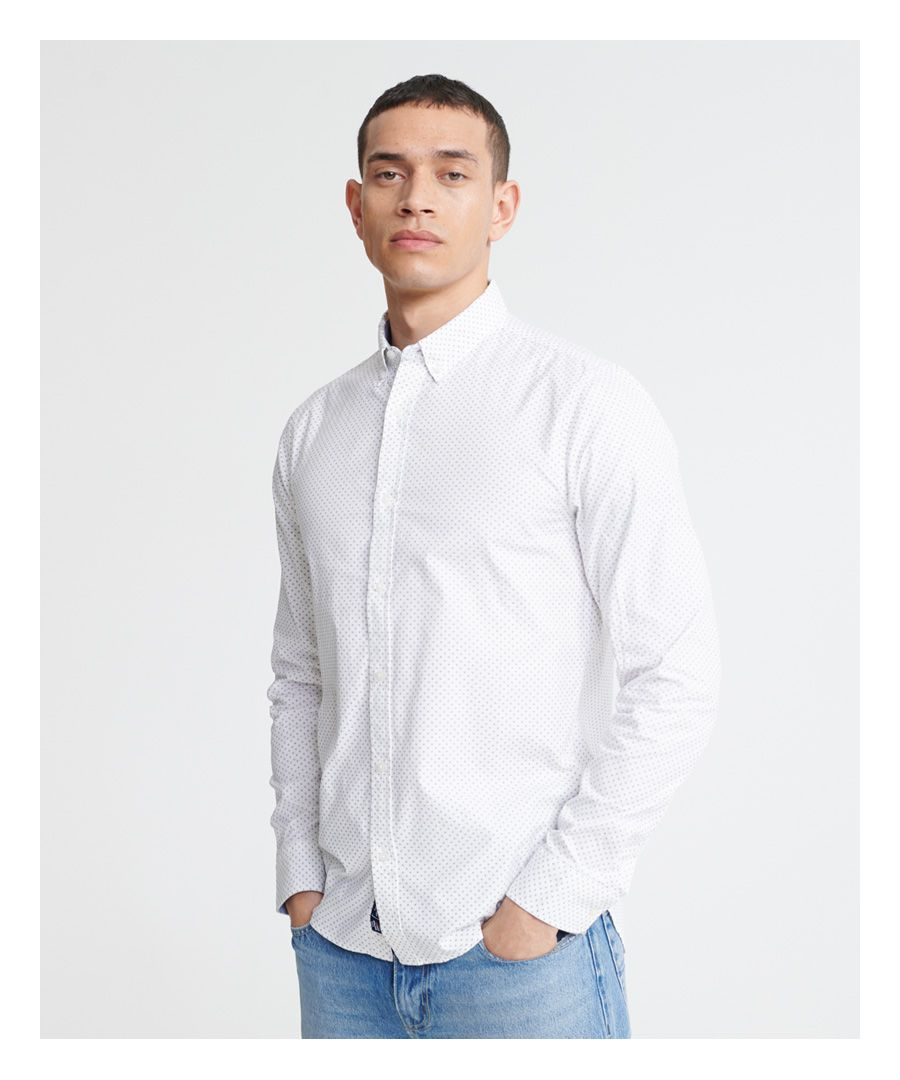Image for Superdry Classic Shoreditch Print Long Sleeve Shirt