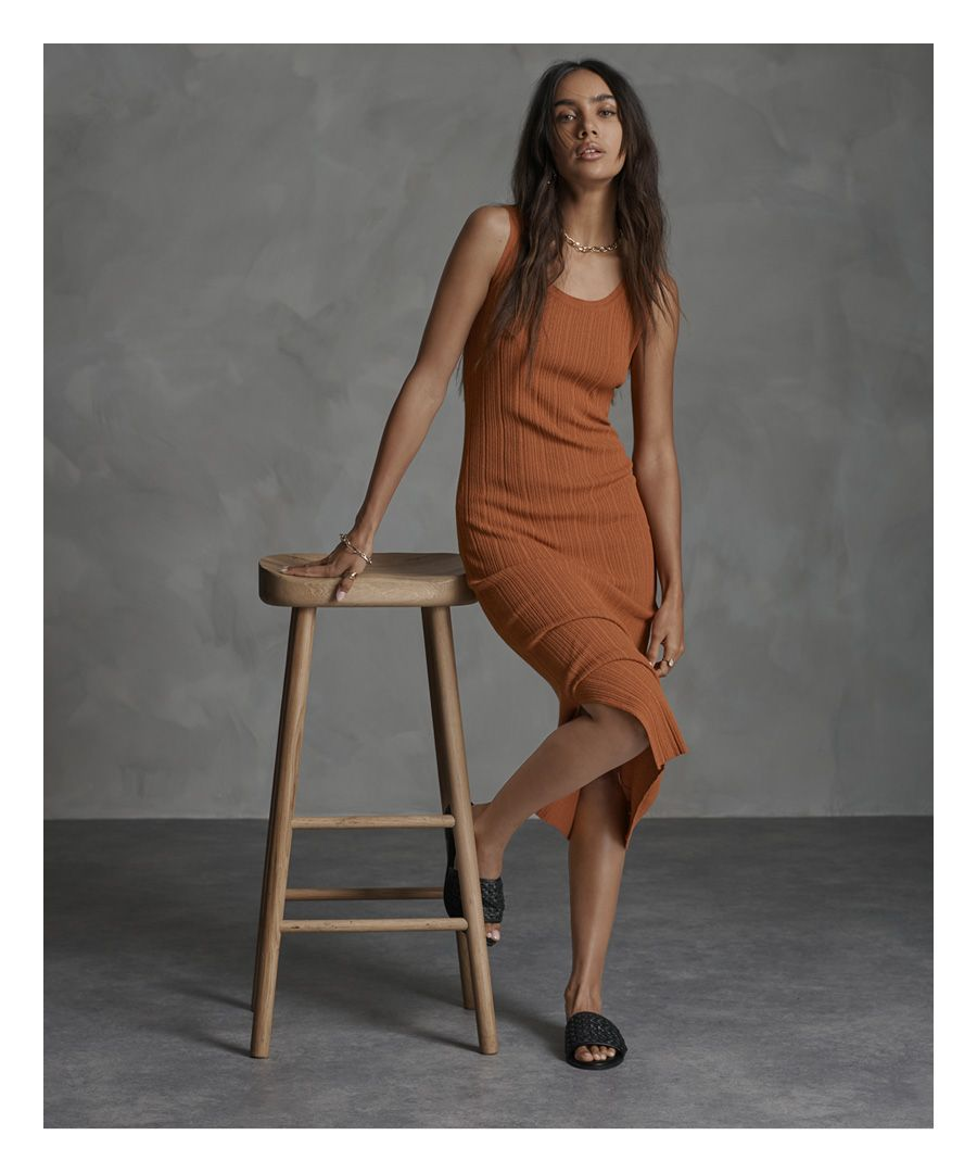 Image for Superdry Sahara Knit Midi Split Dress