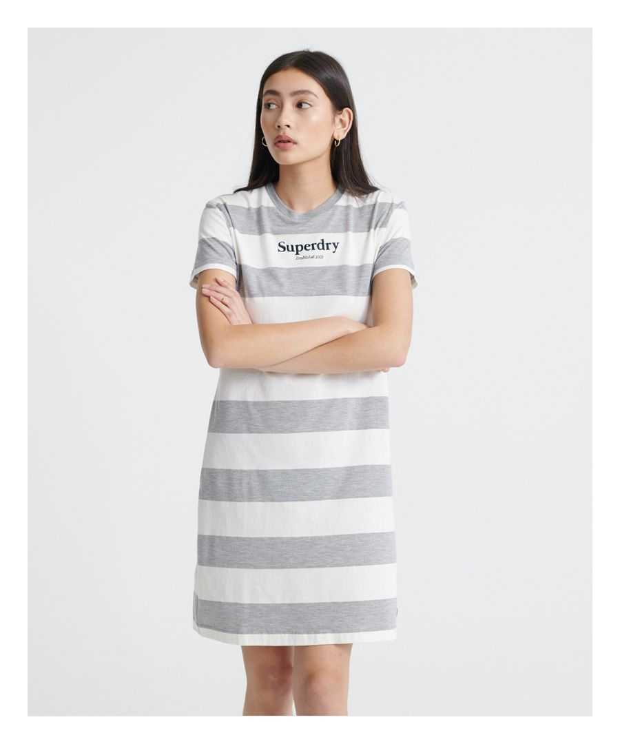Image for Superdry Darcy Striped T-Shirt Dress