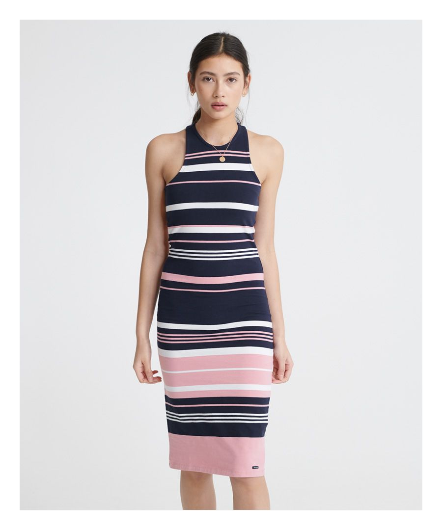Image for Superdry Verigated Stripe Midi Dress