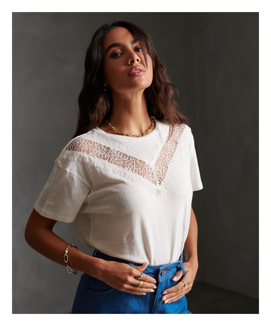 Image for Superdry Chevron Lace T-Shirt