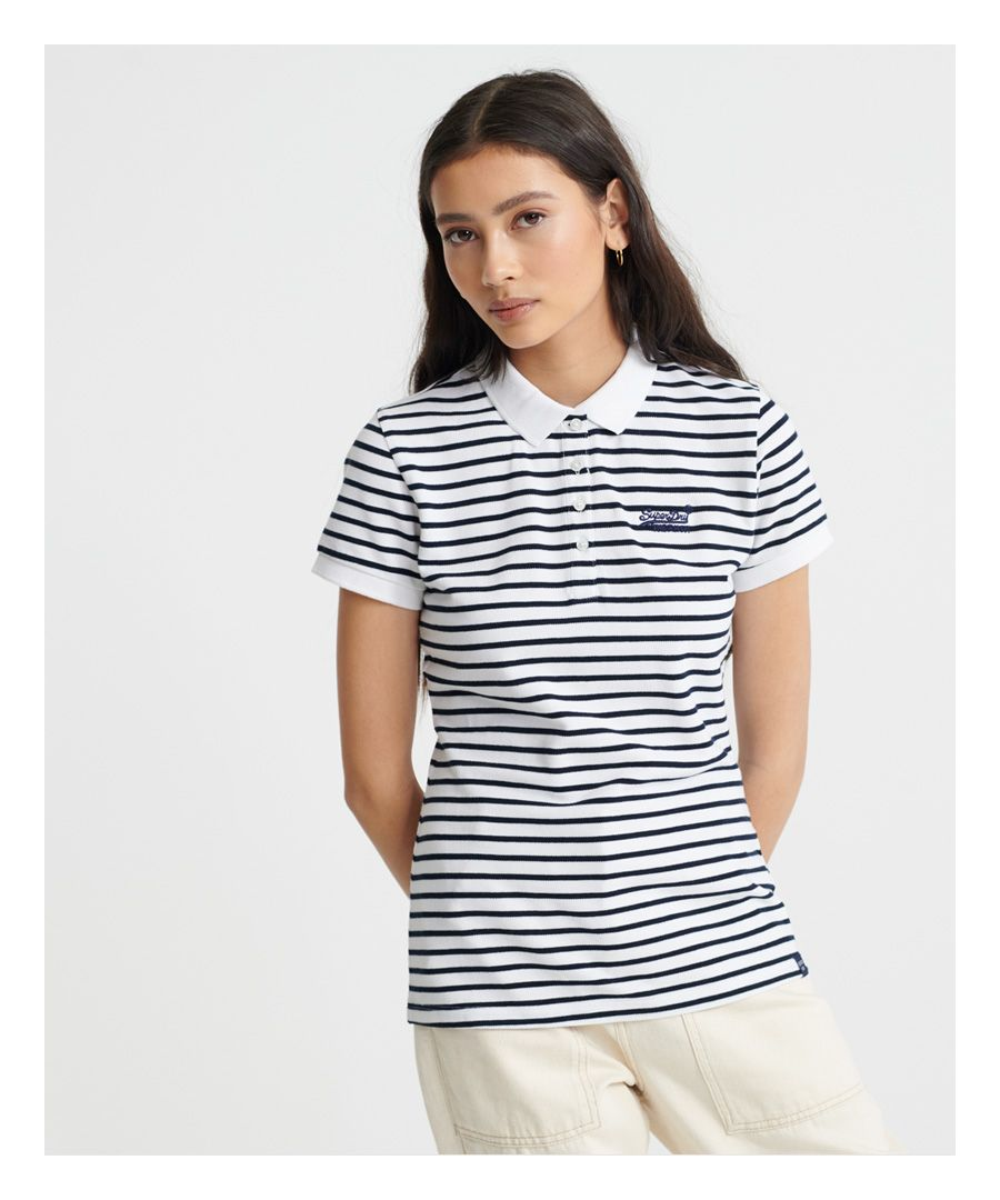 Image for Superdry Organic Cotton Stripe Polo Shirt