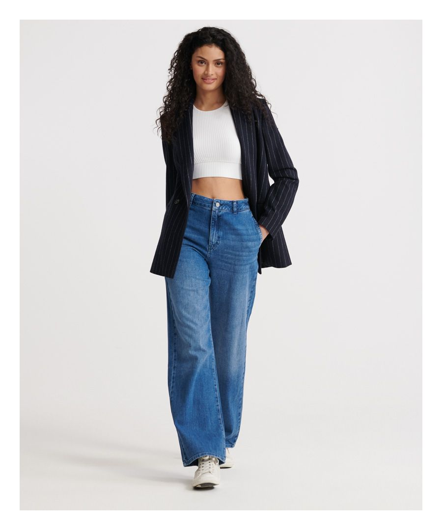 Image for Superdry Tailored Wide Leg Jeans