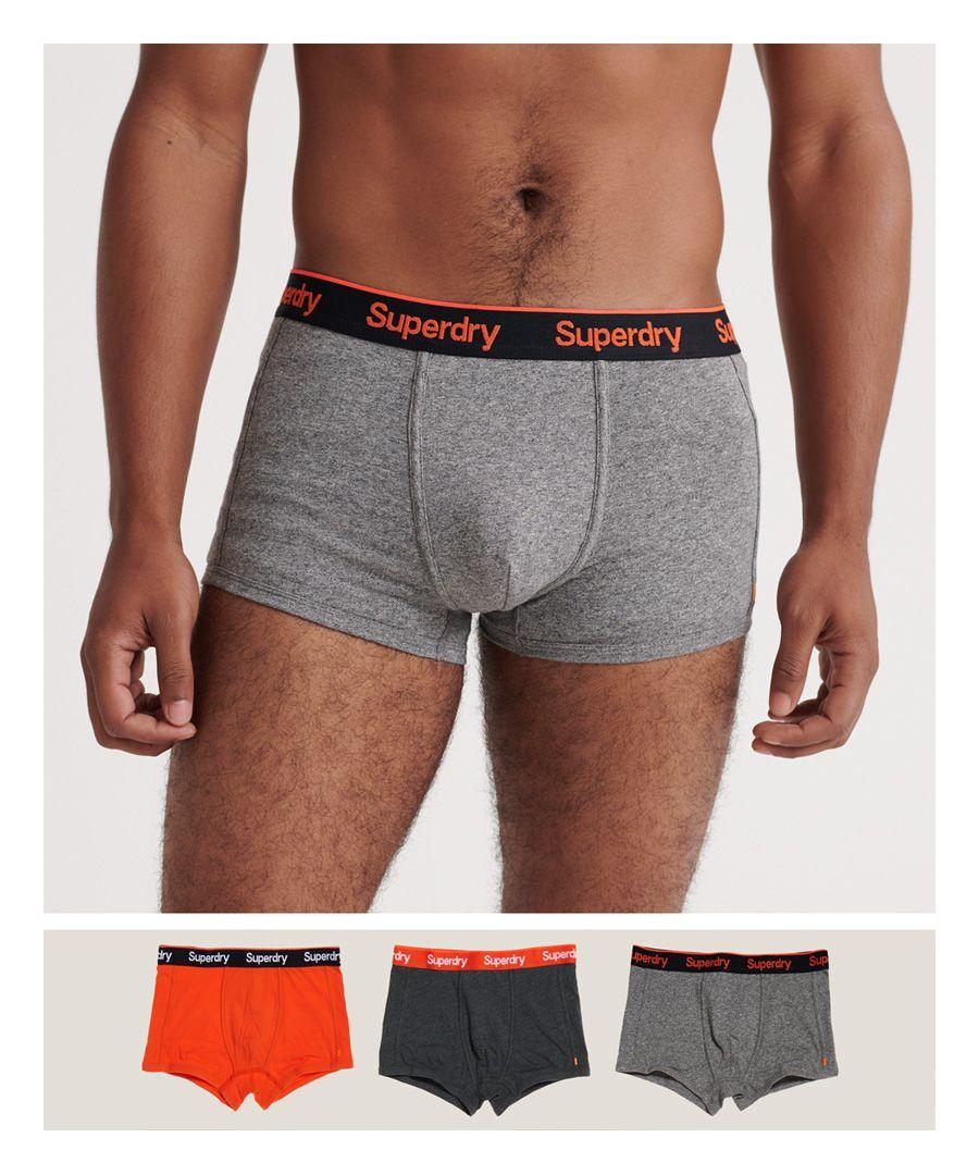Image for Superdry Orange Label Sports Trunks Triple Pack