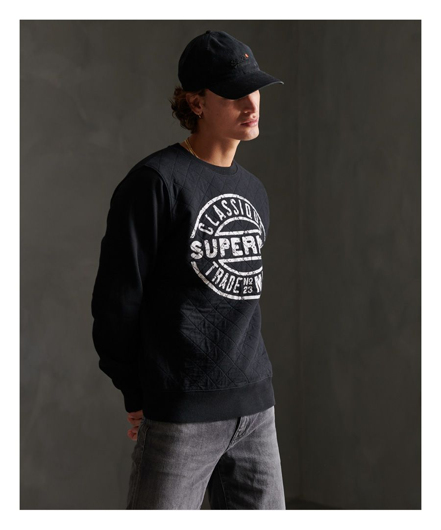 Image for Superdry Workwear Quilted Crew Sweatshirt