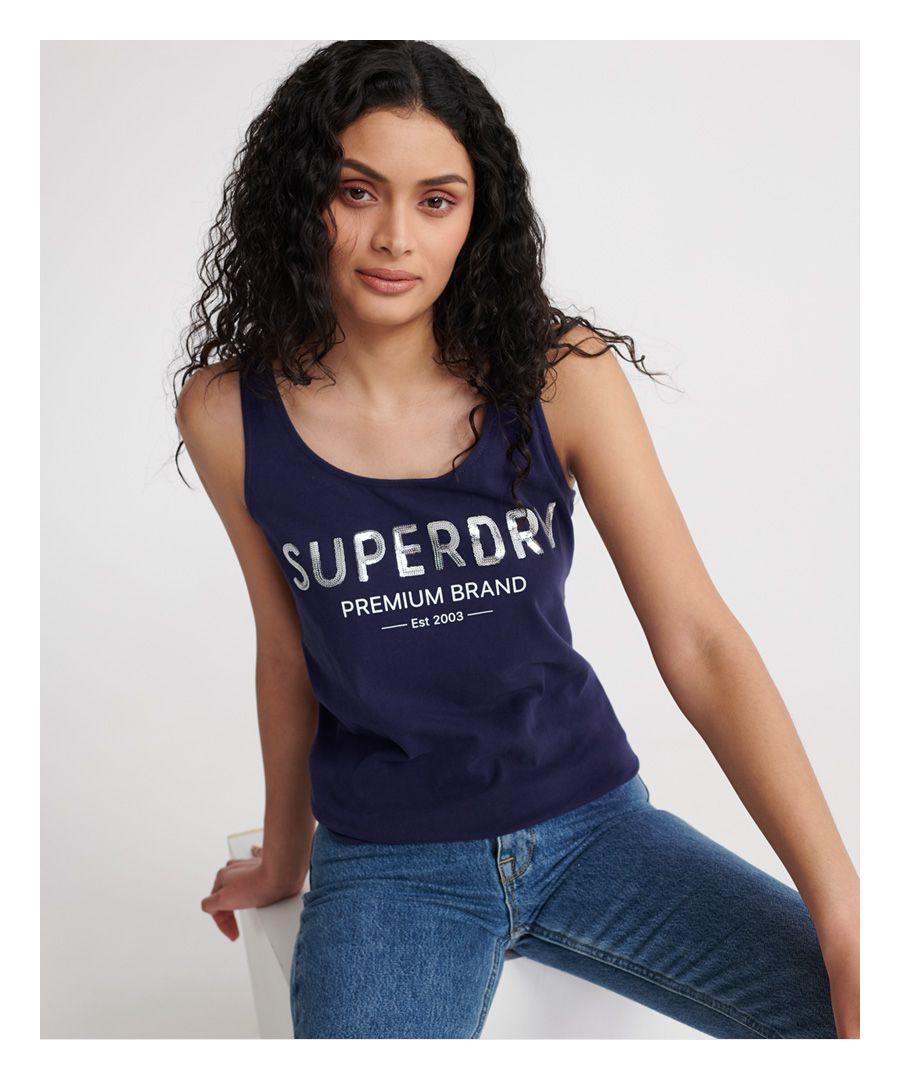 Image for Superdry Premium Sequin Classic Vest