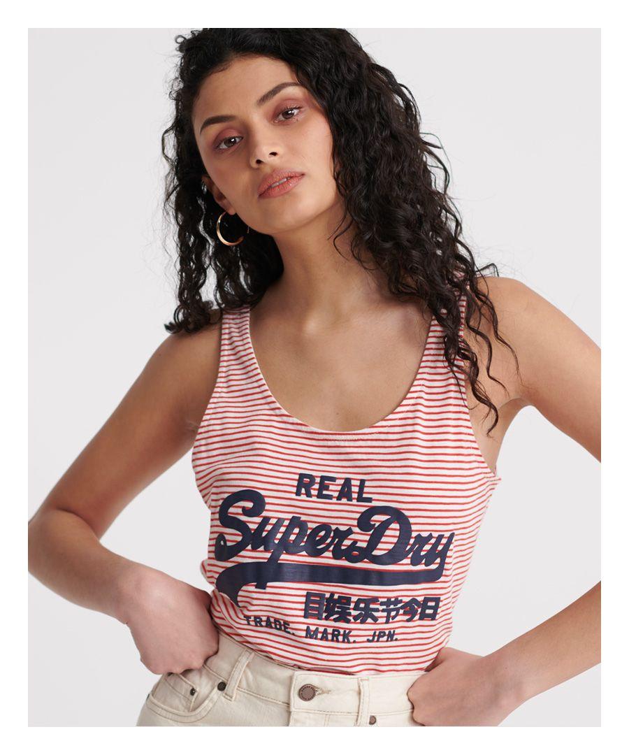 Image for Superdry Vintage Stripe Classic Vest Top