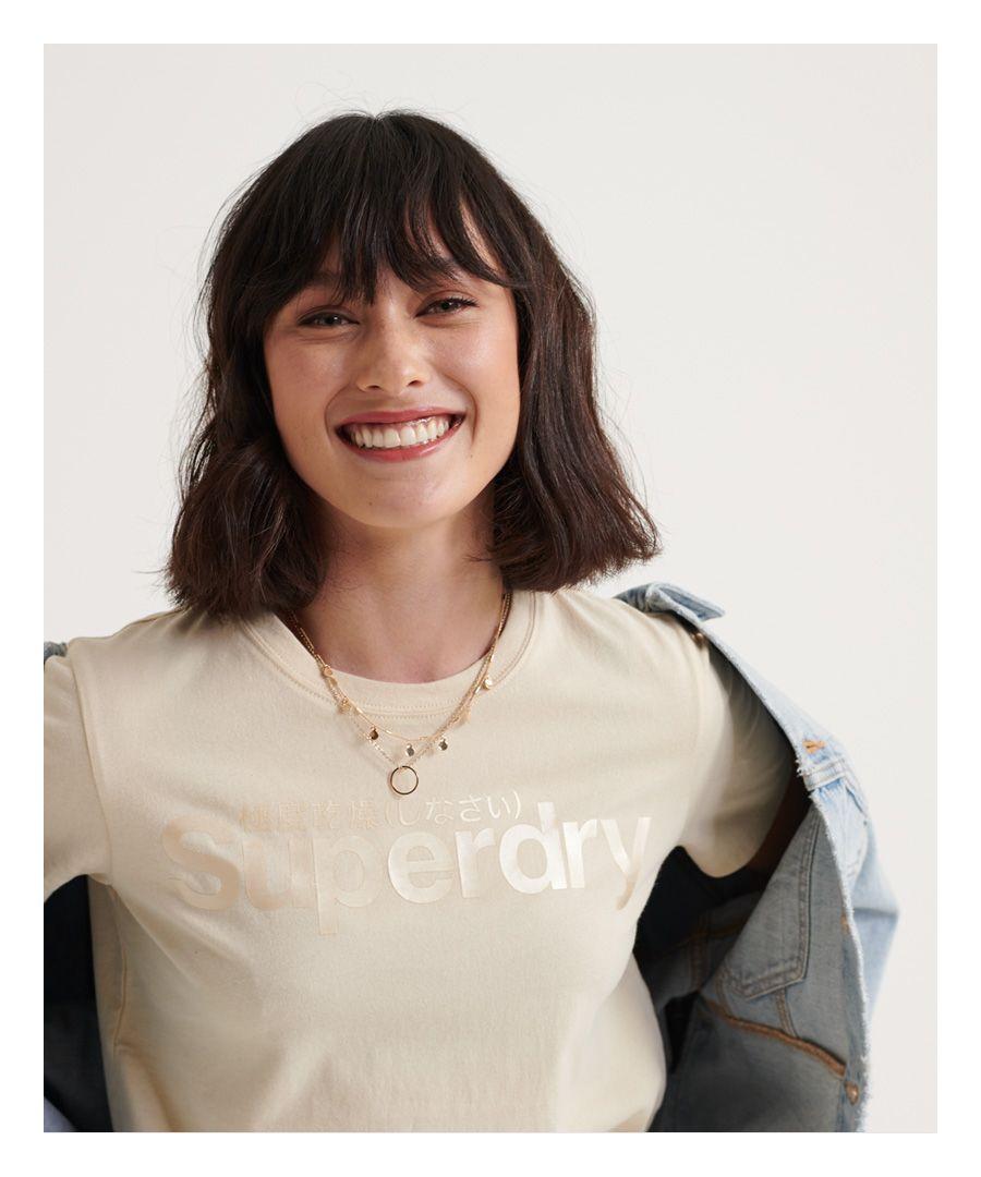 Image for Superdry Swiss Logo Bonded Satin T-Shirt