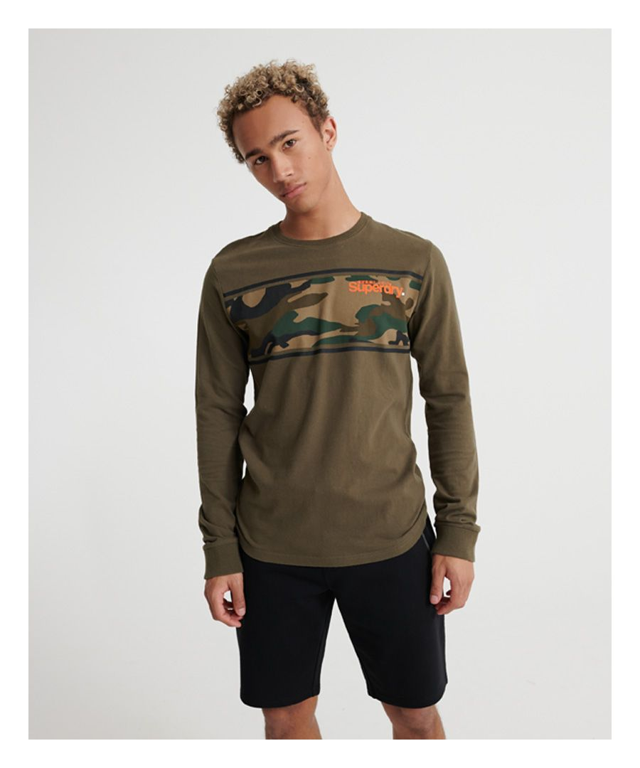Image for Superdry Core Logo Camo Stripe T-Shirt
