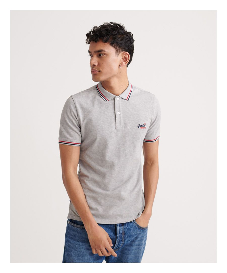 Image for Superdry Classic Micro Lite Tipped Short Sleeved Polo