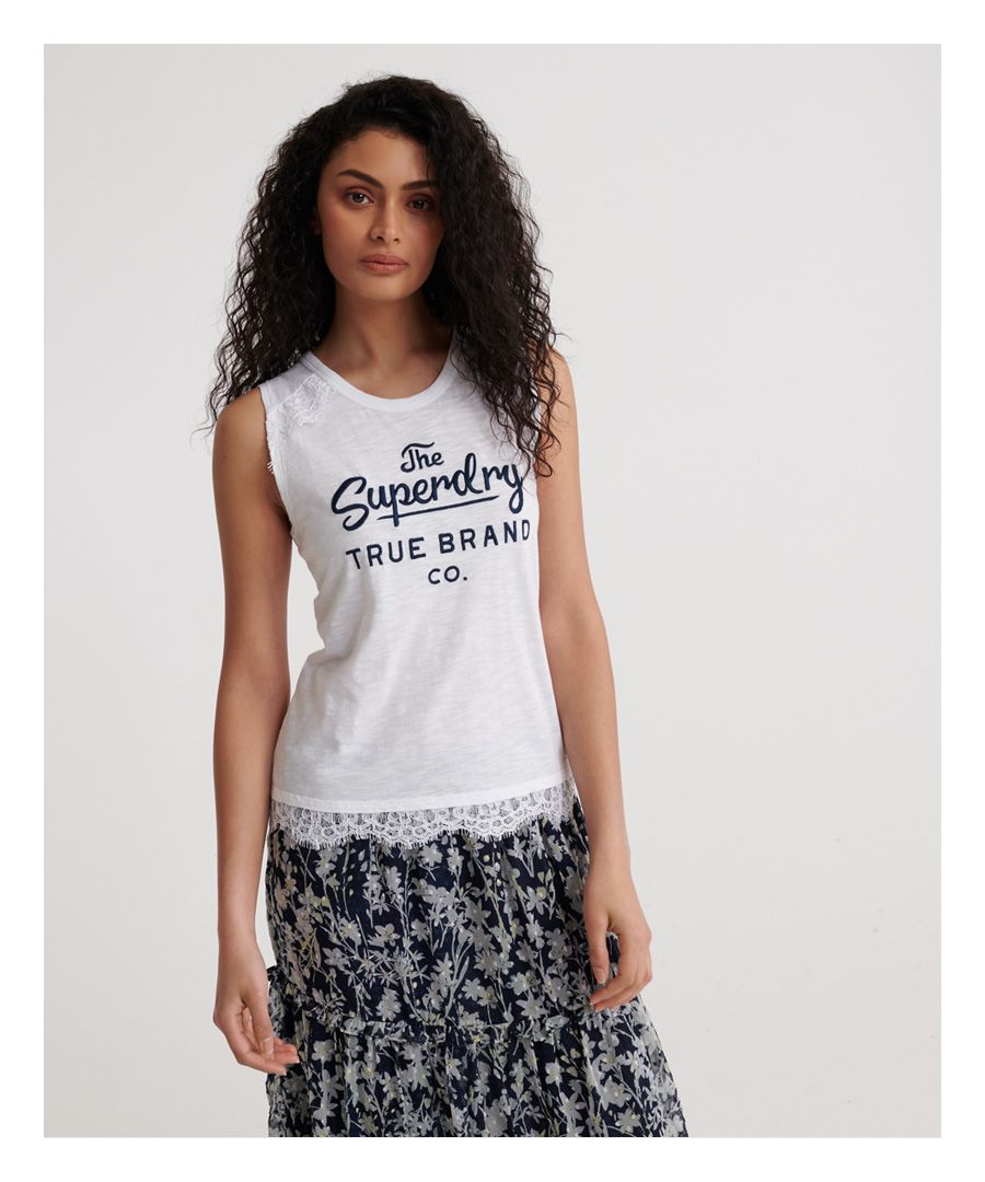 Image for Superdry Jessica Graphic Lace Tank Top