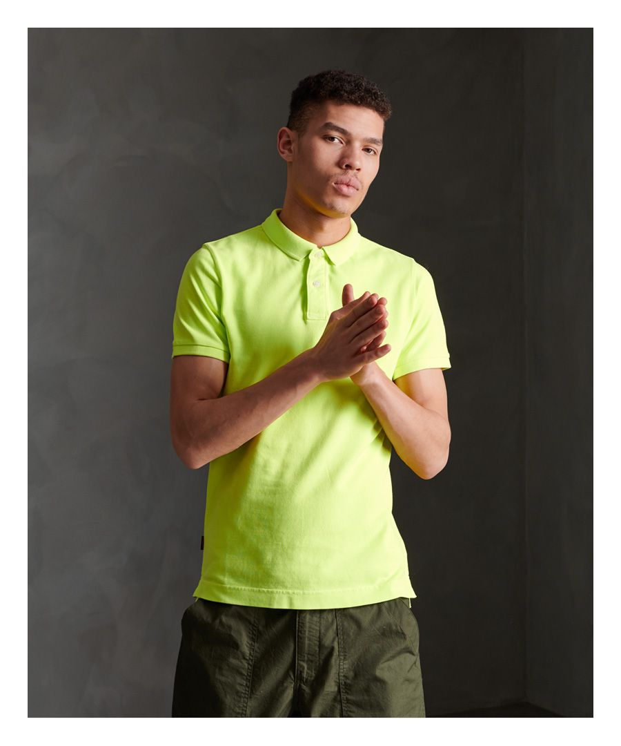 Image for Superdry Organic Cotton Vintage Destroyed Polo Shirt
