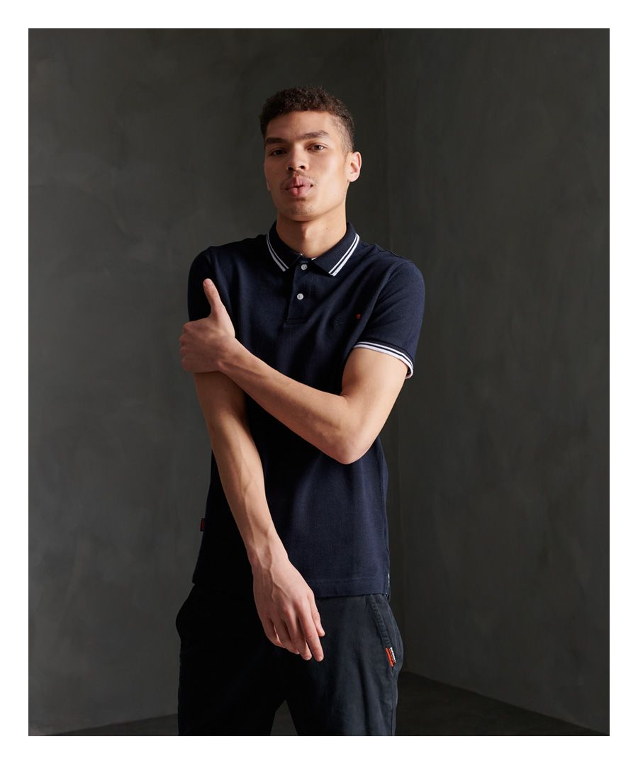 Image for Superdry Organic Cotton Classic Poolside Pique Polo Shirt
