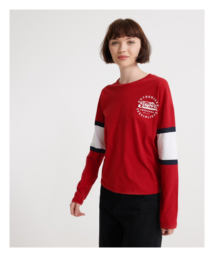 Image for Superdry Graphic Baseball Top