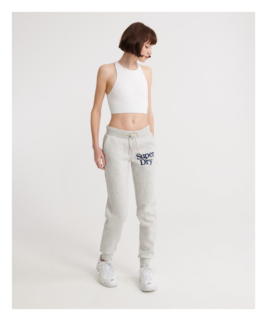 Image for Superdry Embroidered Serif Joggers