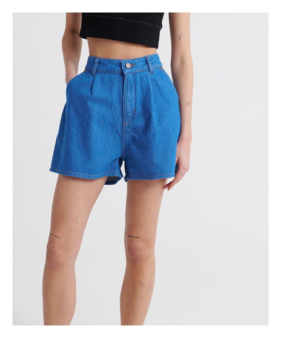 Image for Superdry Denim A Line Shorts