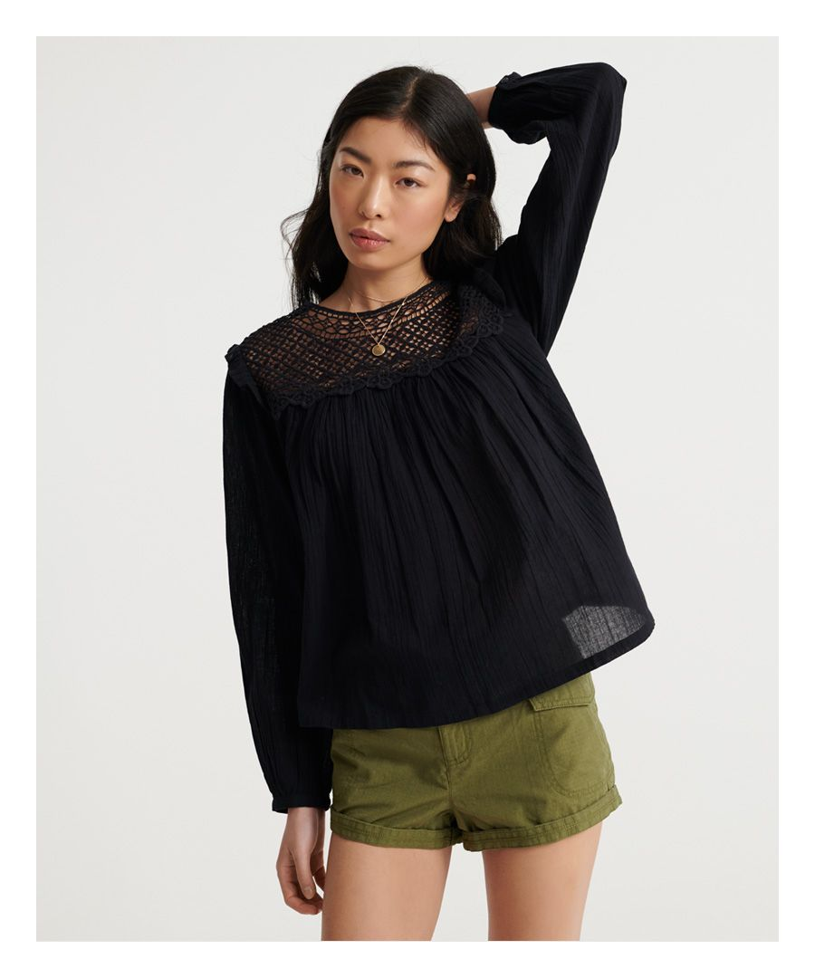 Image for Superdry Ellison Lace Long Sleeve Top