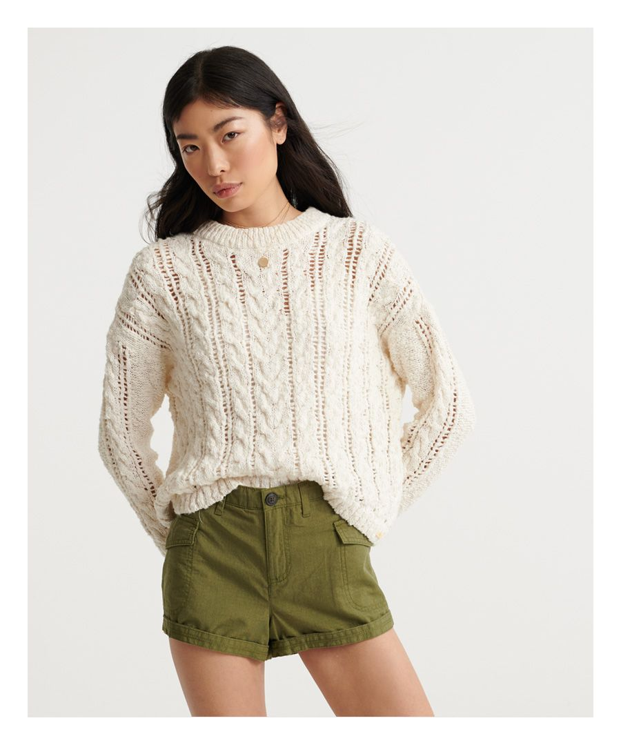 Image for Superdry Layla Open Cable Knit Jumper