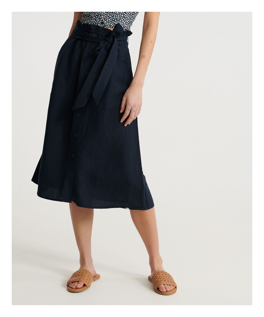 Image for Superdry Eden Linen Skirt