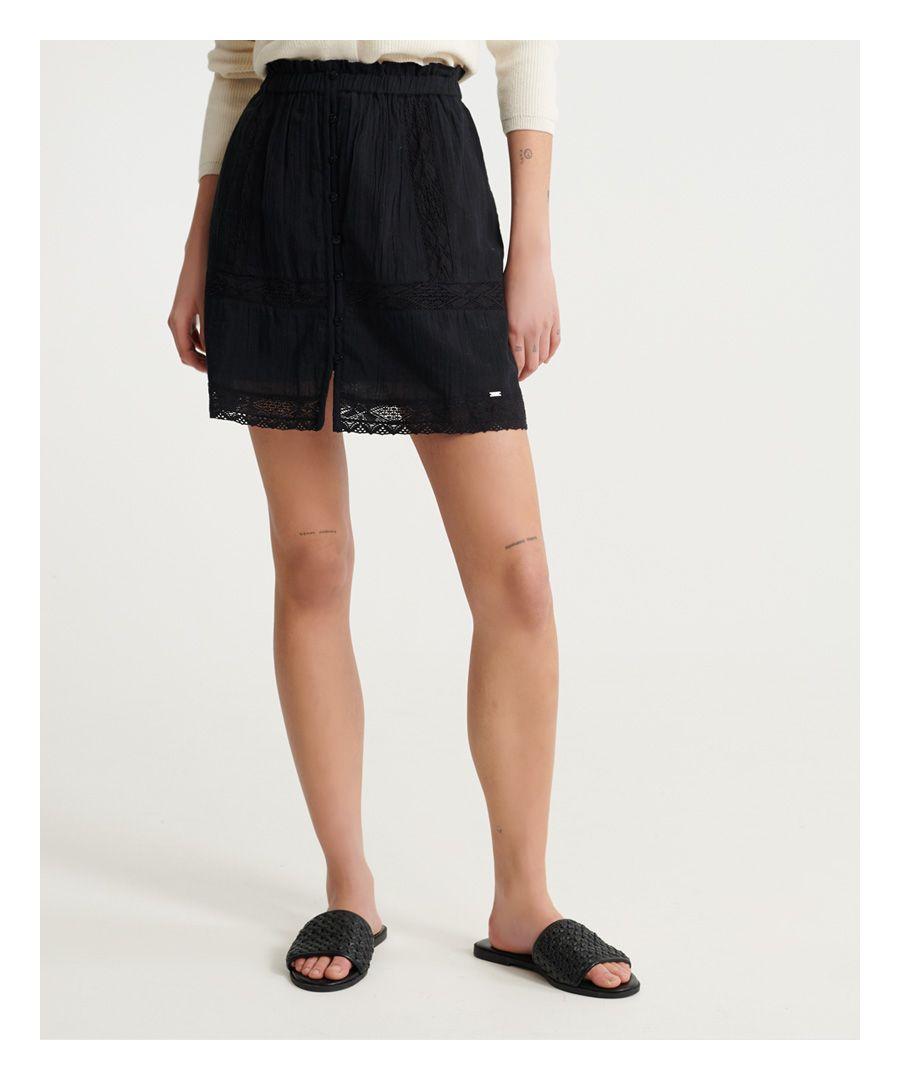 Image for Superdry Ellison Textured Lace Skirt