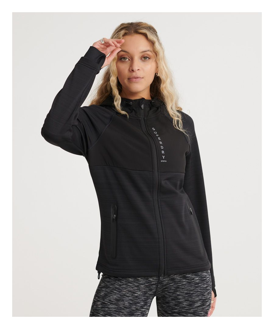 Image for Superdry Training Water Repellent Zip Hoodie