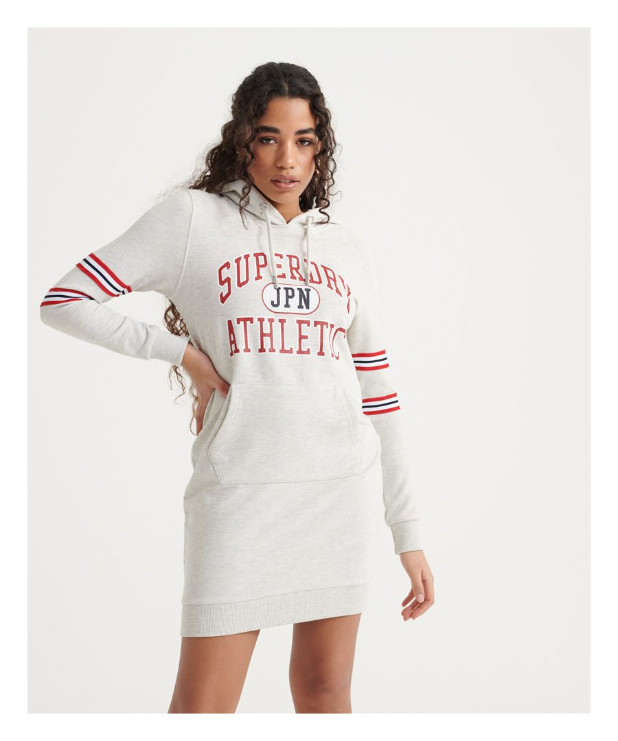Image for Superdry Hooded Varsity Sweat Dress