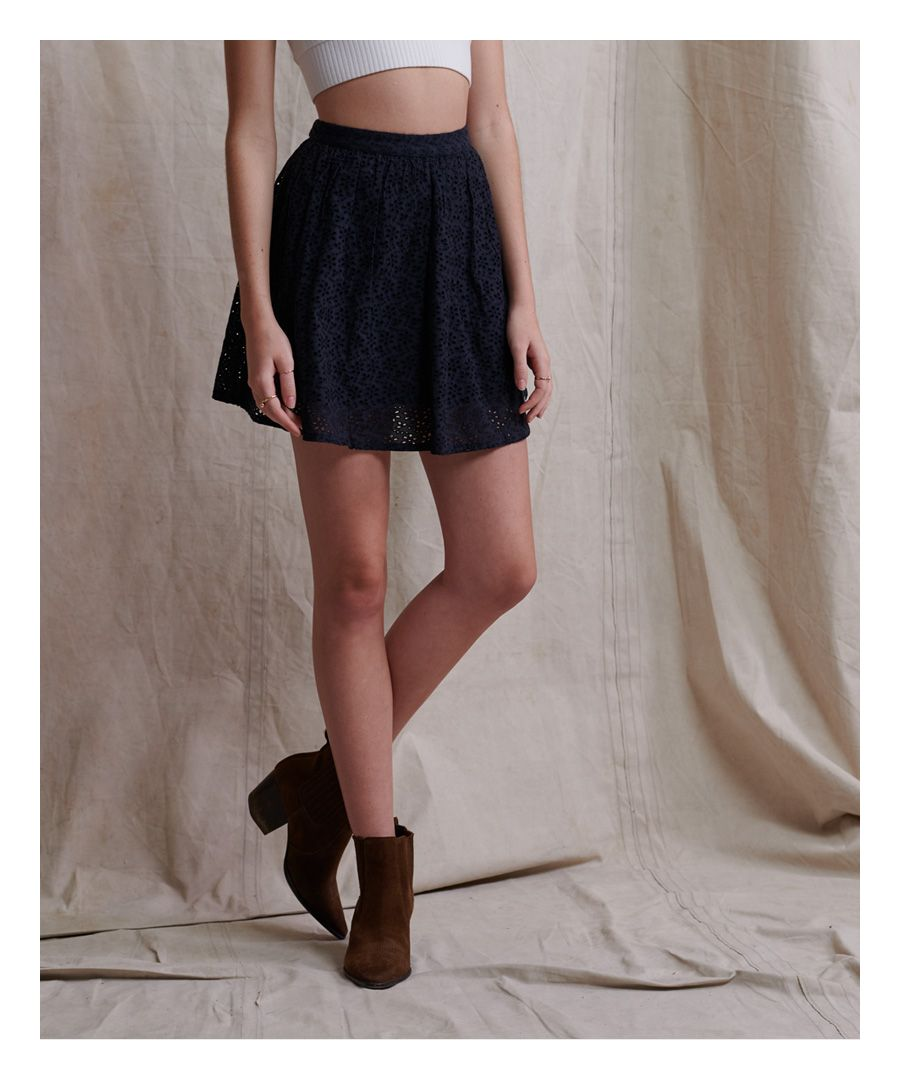 Image for Superdry Blair Broderie Skirt