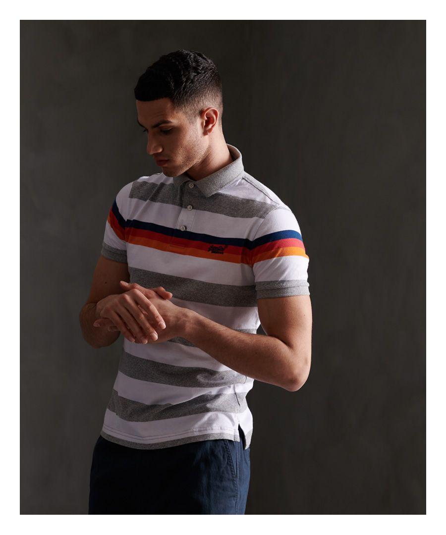 Image for Superdry Organic Cotton Horizon Stripe Polo Shirt