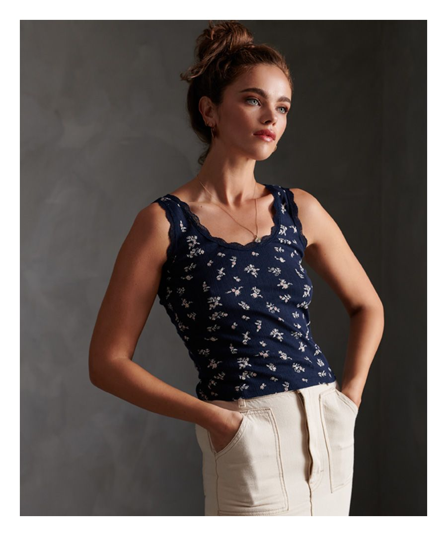 Image for Superdry Essential Pointelle Tank Top